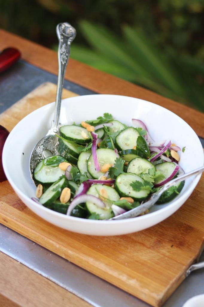 Salada asiatica de pepino!