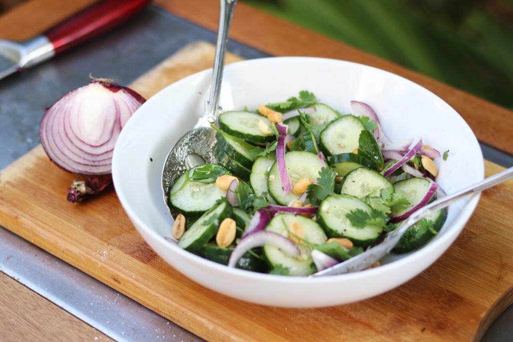 Salada asiatico de pepino.