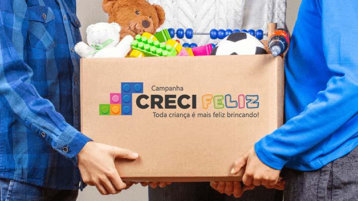 Campanha lançada pelo Creci-PB arrecada brinquedos para crianças carentes