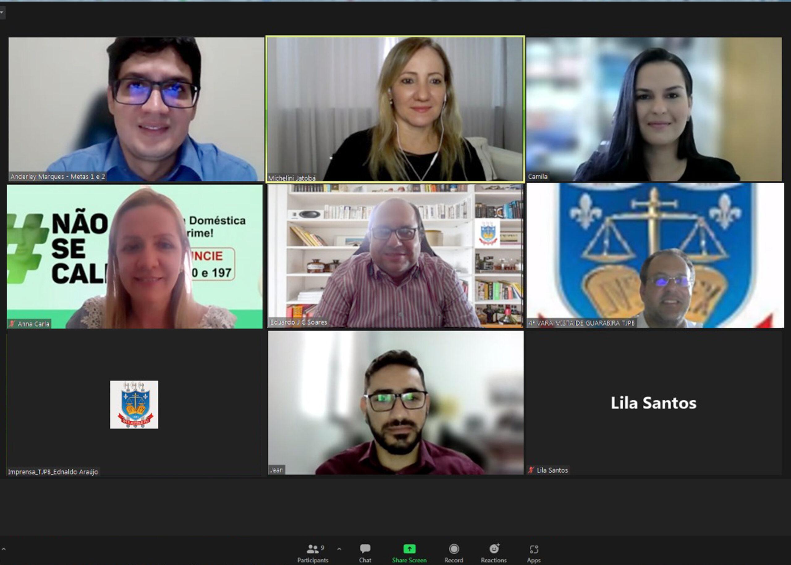 Painel Gerenciador de Metas é apresentado em reunião virtual do Comitê Gestor das Metas do TJPB